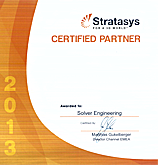 Solver gained the status of Stratasys Certified Partner!